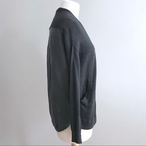 Lululemon cardi in the front black heather sweater